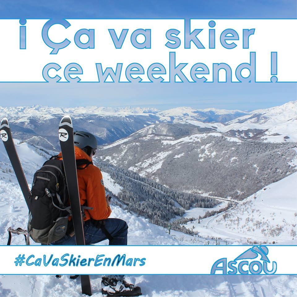 Visuel de Community Manager pour Ascou station de ski en Ariège