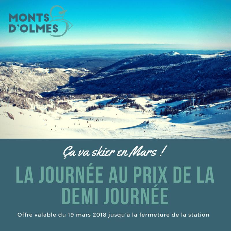 Visuel de Community Manager pour les Monts d'Olmes station de ski en Ariège