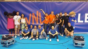 Yoan et la team animation de la Volleyball Nations League à Lille