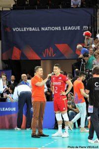Yoan, Maitre de Cérémonie pour la Volleyball Nations League