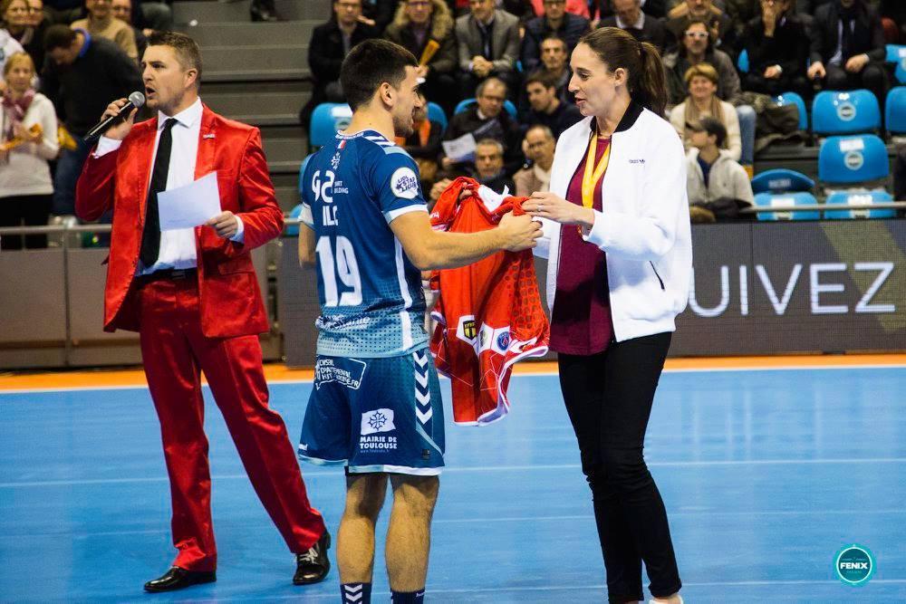 Yoan, maitre de cérémonie pour le handball à Toulouse, Paris, Nice, Marseille et en France