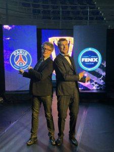 Yoan et Pierre Veillet animateurs micro de la Ligue Nationale de Handball