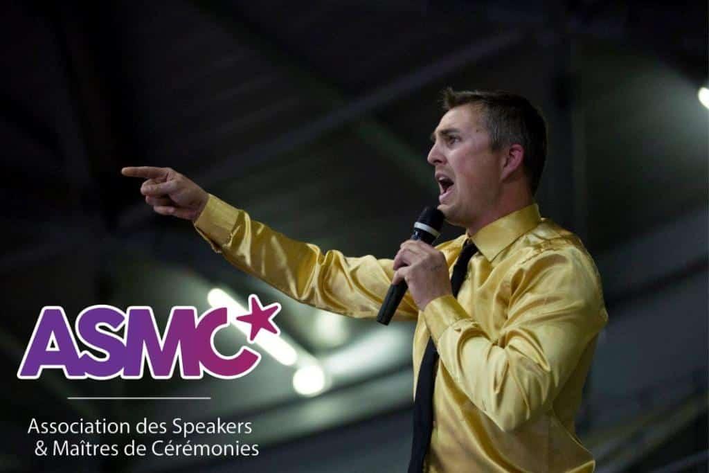 Yoan, membre de l'association des Speaker et Maîtres de Cérémonies dans le sport