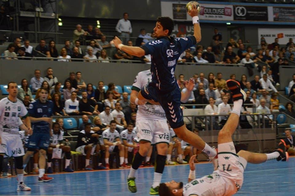 Yoan, speaker du Fenix Toulouse Handball face à Nîmes
