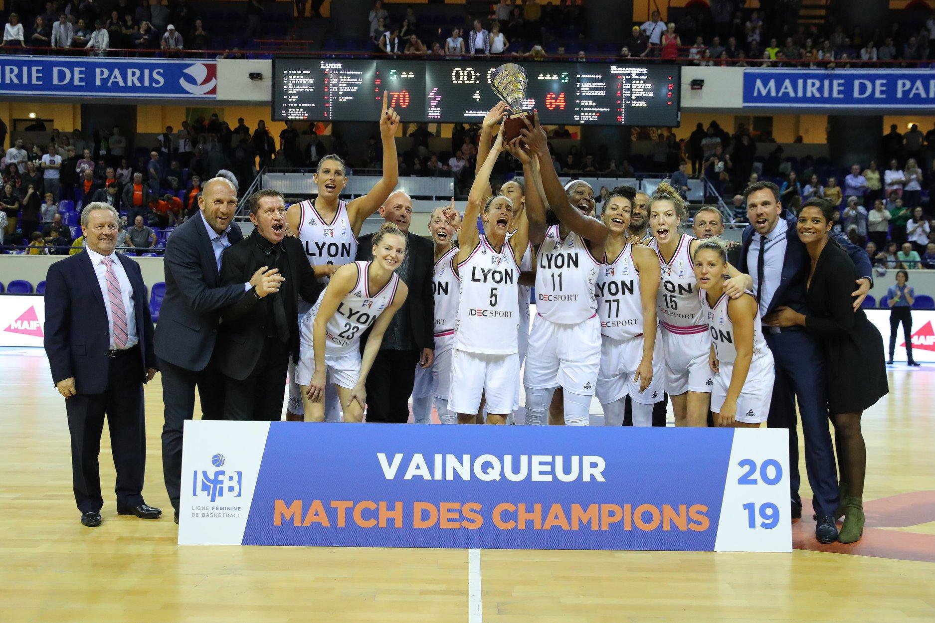 Gagnantes du Trophée des Champions - Yoan speaker basket Open LFB
