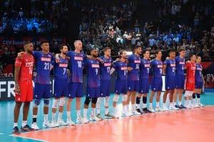 L'équipe de France de volley pendant l'Eurovolley