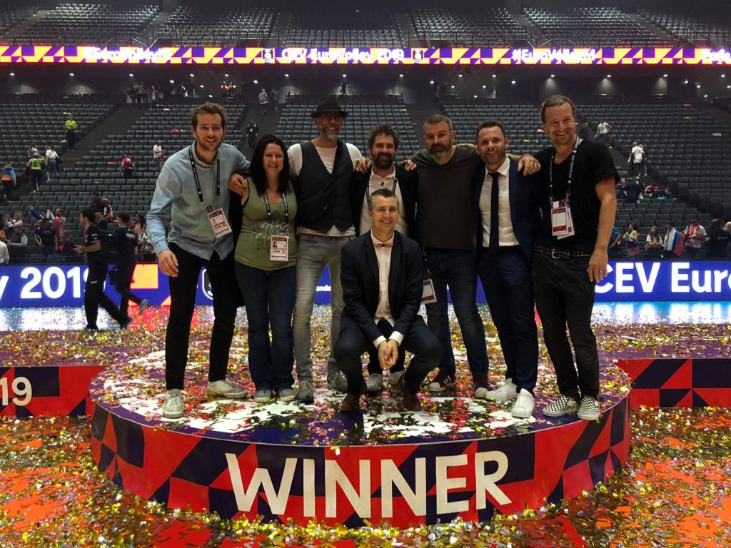 Avec la team PPS de l'EuroVolley 2019