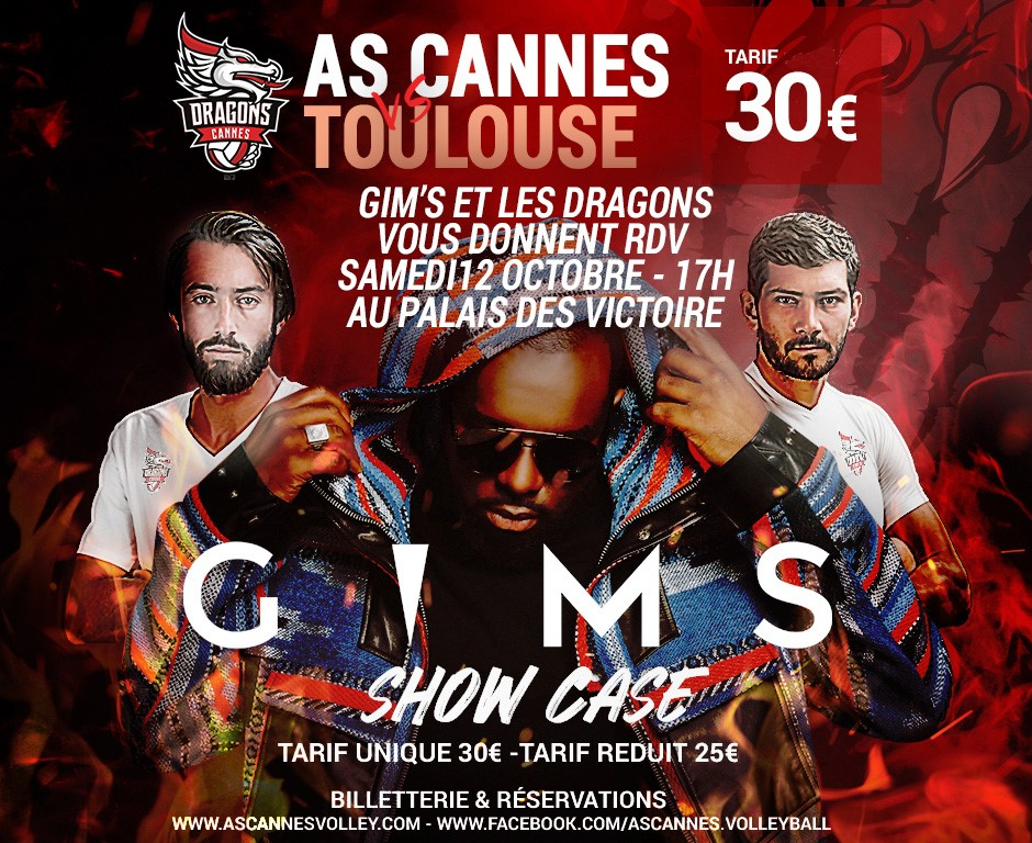 Yoan, ambianceur pour l'AS Cannes Volley