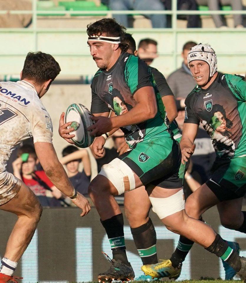 Yoan, speaker pour un match de l'US Montauban Rugby
