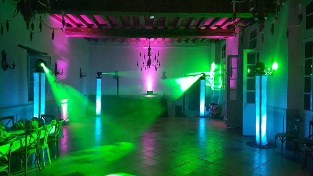 Décoration lumière et son pour Yoan DJ animateur de soirées