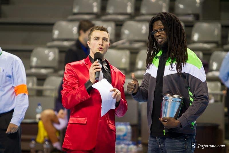 Yoan, maître de Cérémonie, DJ, speaker et ambianceur pour le Fenix Toulouse Handball