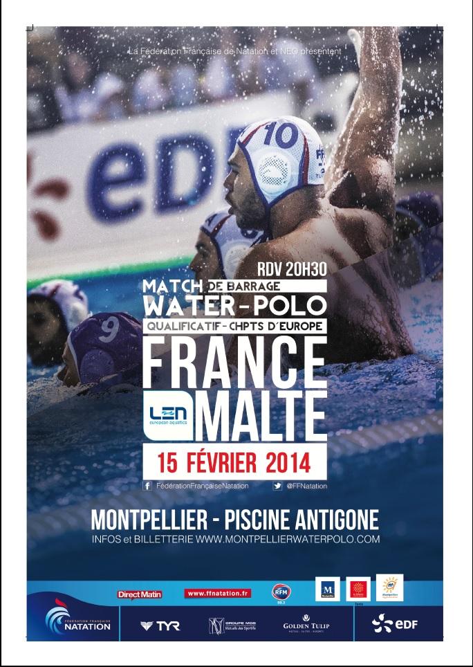 Speaker pour France Malte en waterpolo