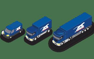 Flotte de véhicules de JEBS Express transport