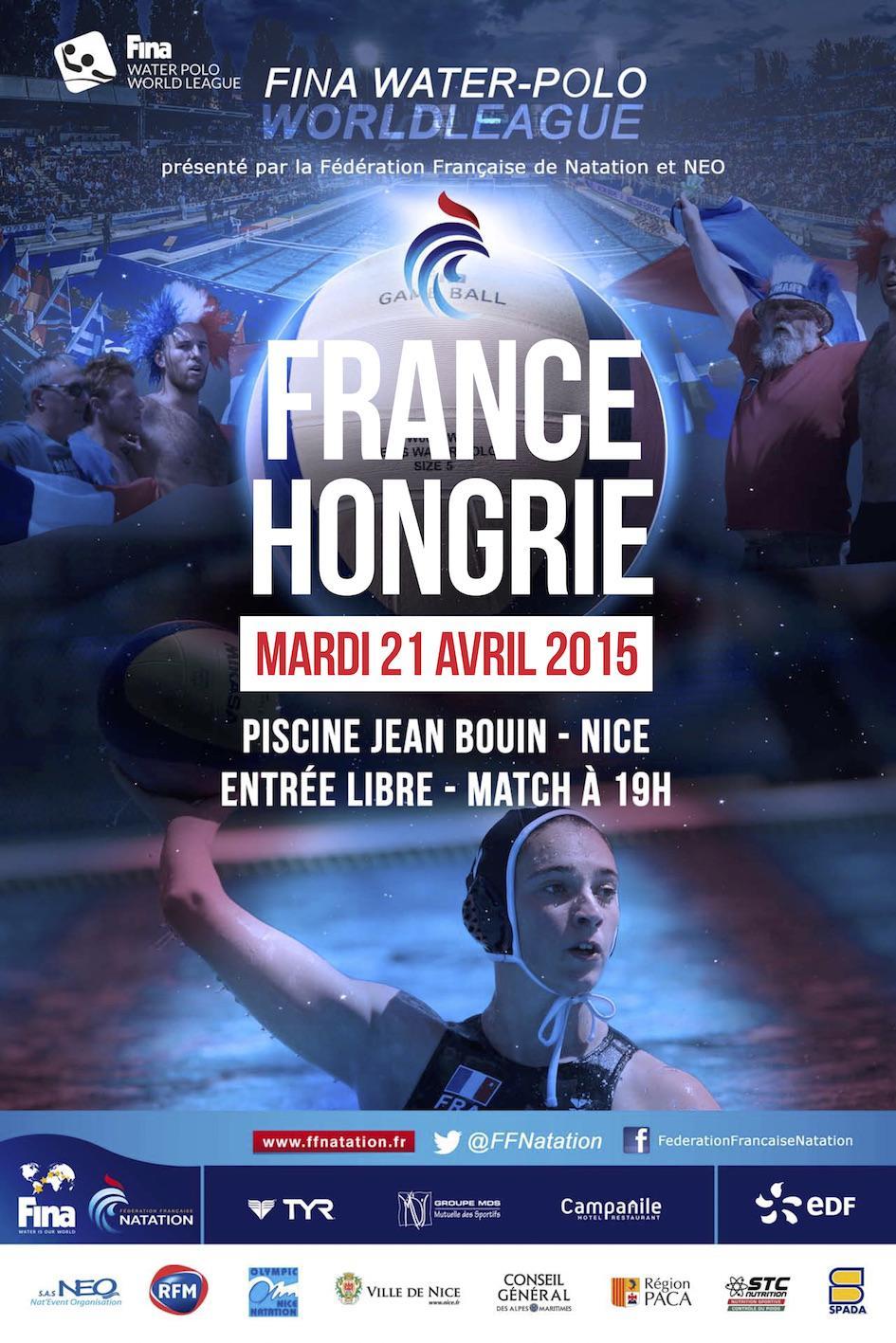 Speaker et ambianceur pour France Hongrie en waterpolo