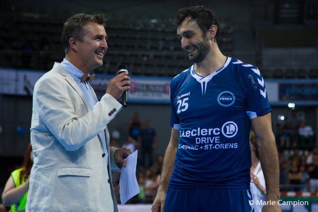 Maitre de ceremonie pour le Fenix TOulouse Handball