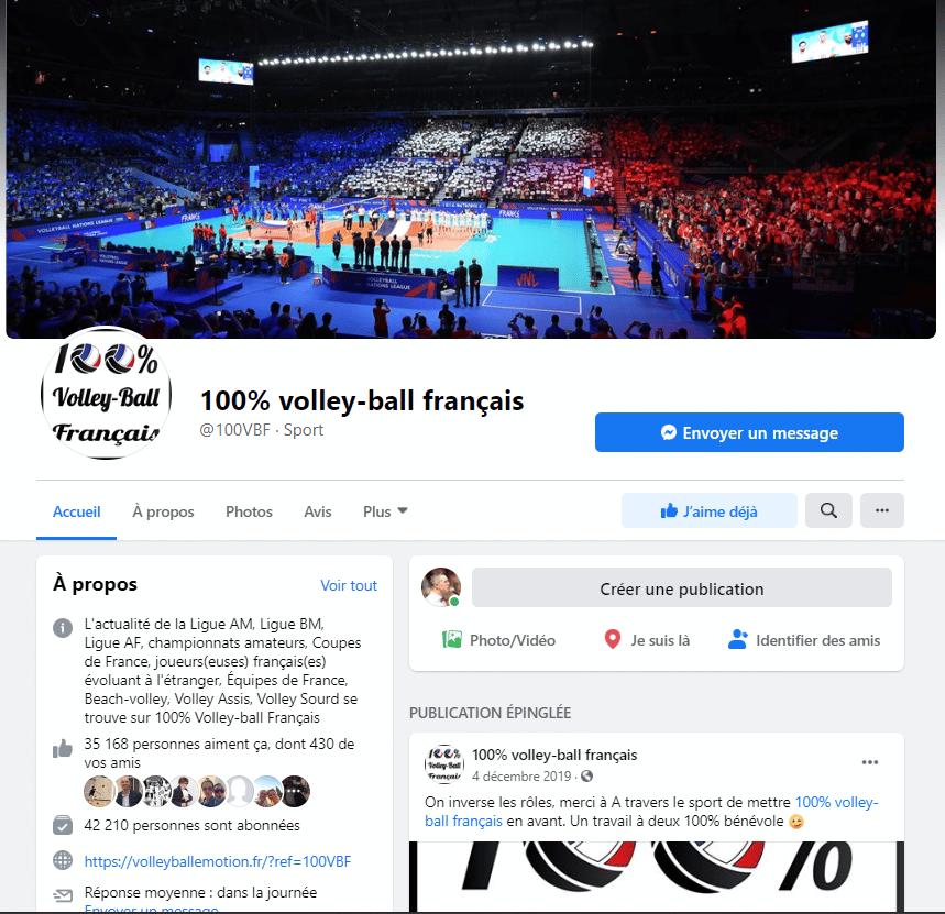 100 pour 100 volleyball Français