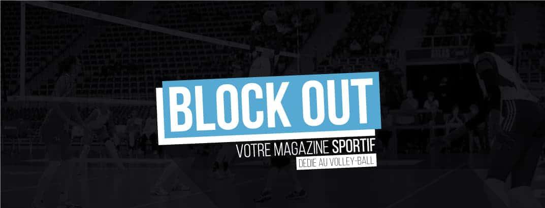 Couverture du site Block Out, spécialisé dans le volley