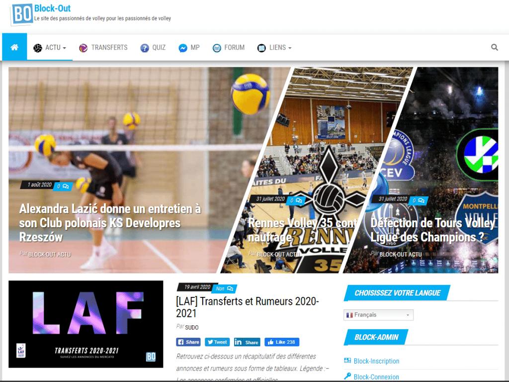 Le site internet spécialisé volleyball, BlockOut