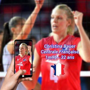 Christina Bauer, centrale de l équipe de France de volleyball