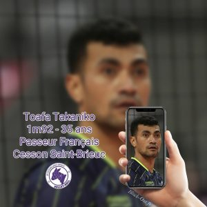 Toafa Takaniko ancien passeur des Spacers Volley Toulouse