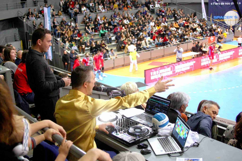 Yoan, ambianceur DJ des Spacer's Volley Toulouse