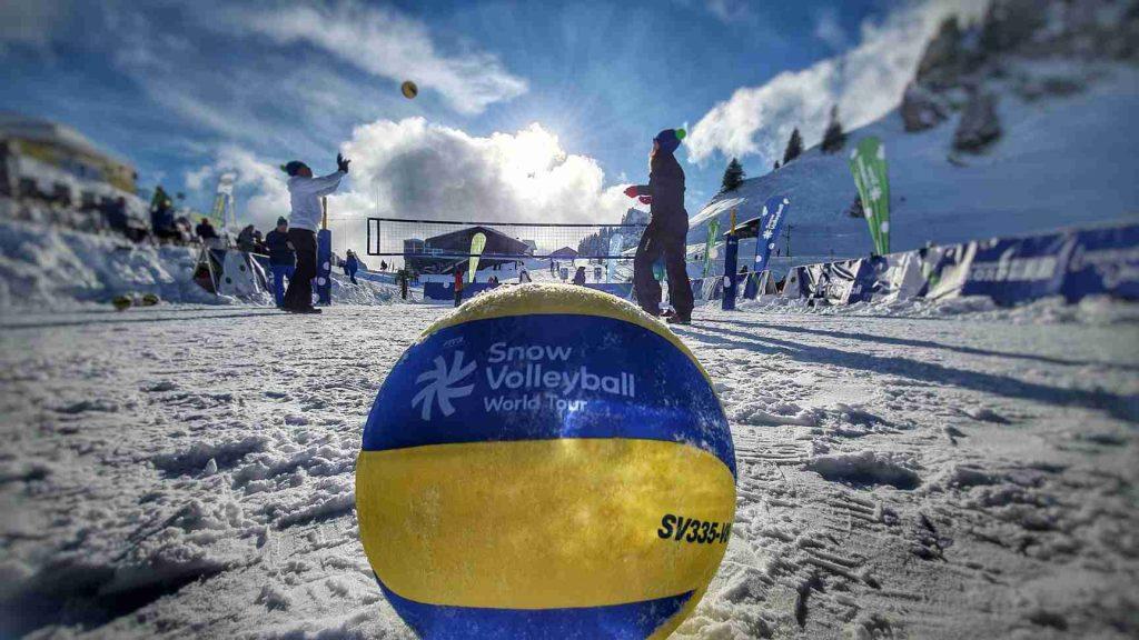 Yoan Maitre de Cérémonie d'un événement de Snow Volley à Lausanne
