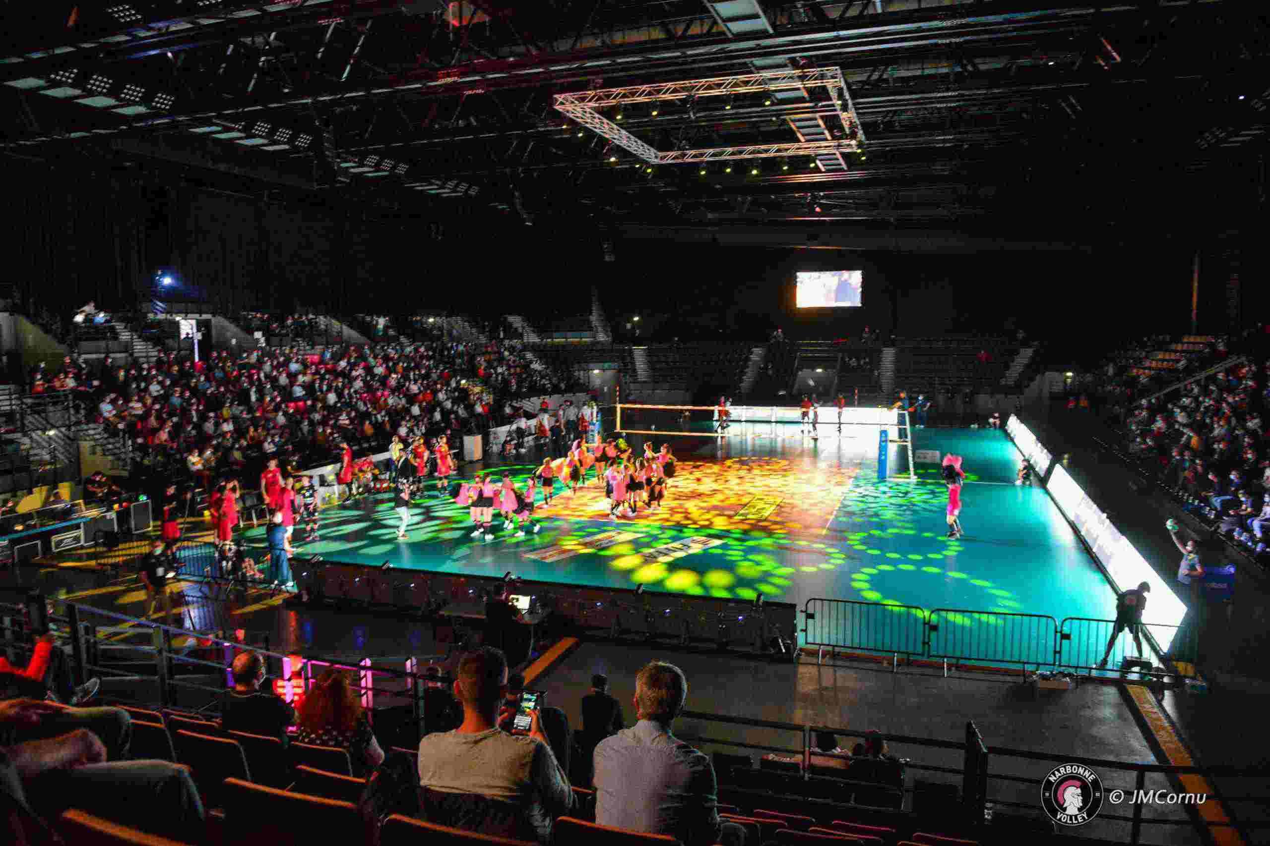 Yoan maitre de cérémonie pour le Narbonne Volley