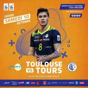 Yoan CROUZILLAT speaker, dj , ambianceur, animateur micro des Spacers Volley Toulouse événement