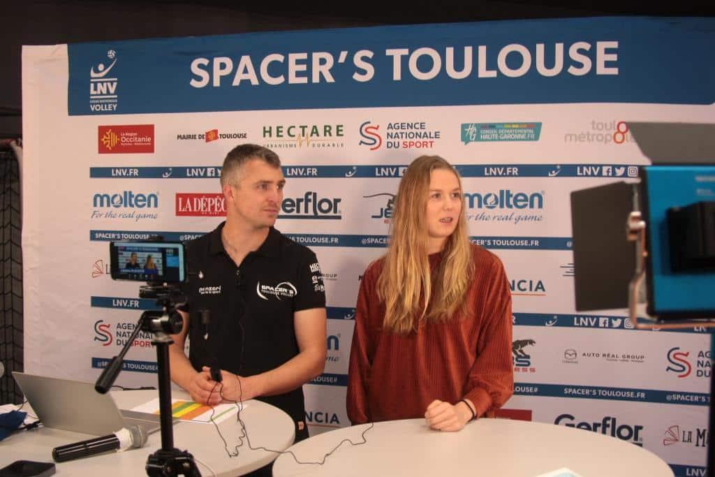 Présentateur de live facebook pour les SPacer's Volley TOulouse