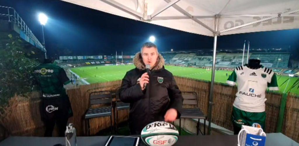 Yoan, animateur du live de la rencontre de rugby entre Montauban et Oyonnax