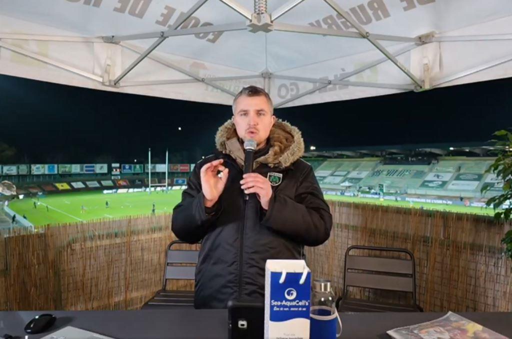 Yoan, anilmateur de live pour l'émission Rugby de Montauban