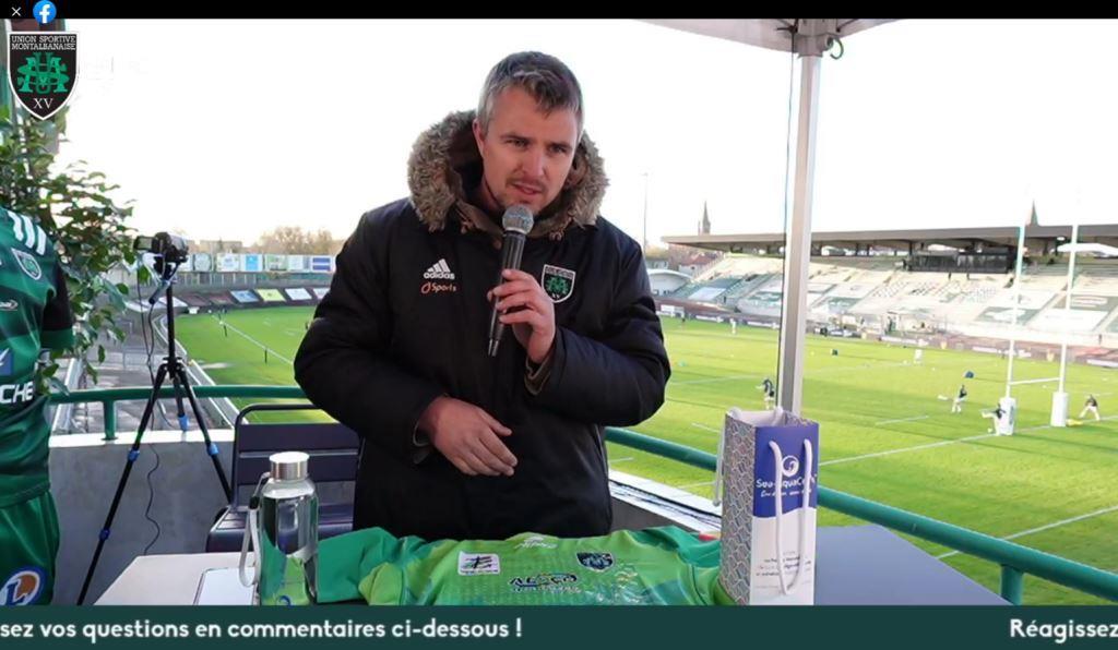 Yoan, animateur du direct rugby de l'USM Sapiac Montauban