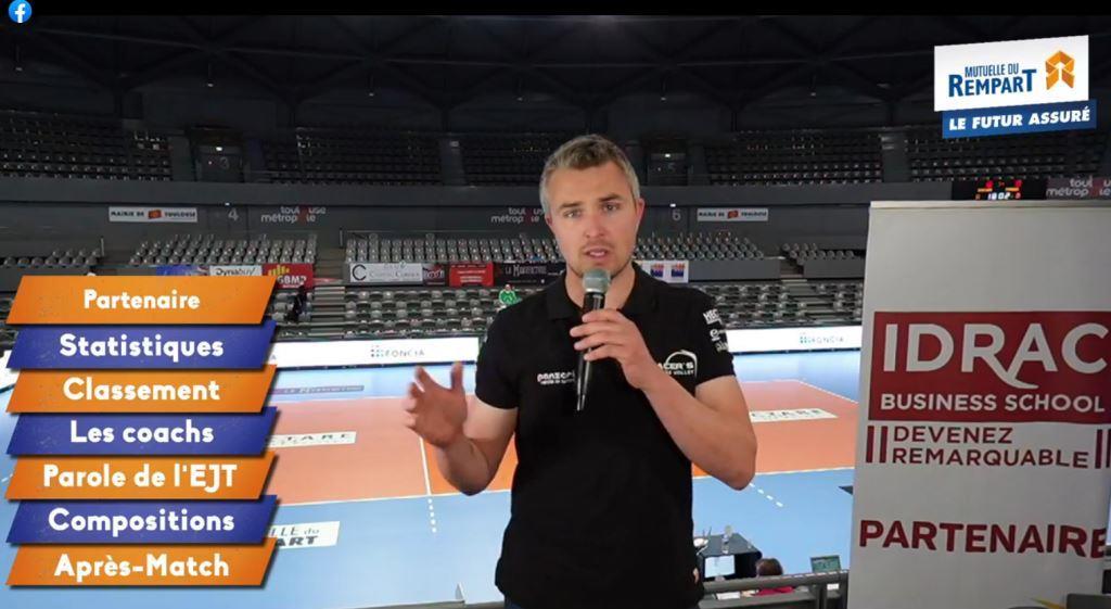 Yoan, animateur du live facebook des Spacer's Volley Toulouse