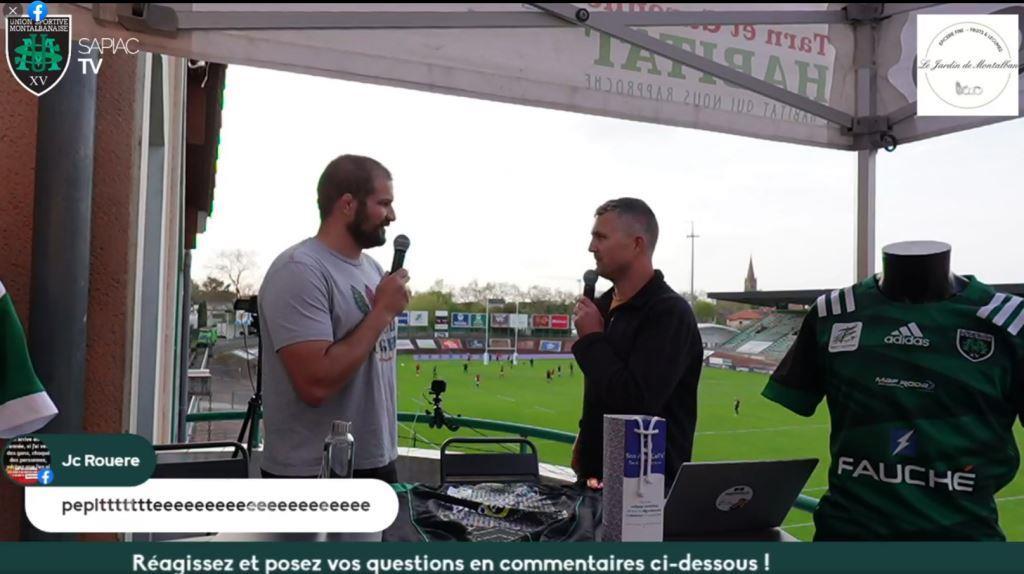 Yoan, présentateur Commentateur de la Sapiac TV pour le club de rugby de Montauban