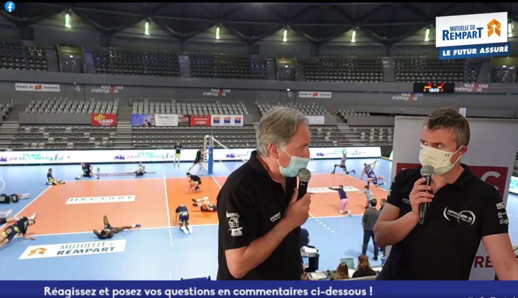 Yoan, présentateur du facebook live du volleyball à Toulouse