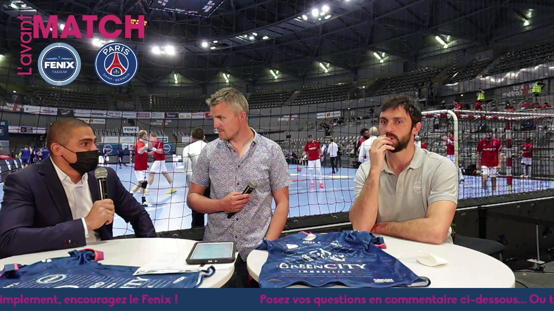 Yoan, présentateur TV pour le Fenix Toulouse Handball