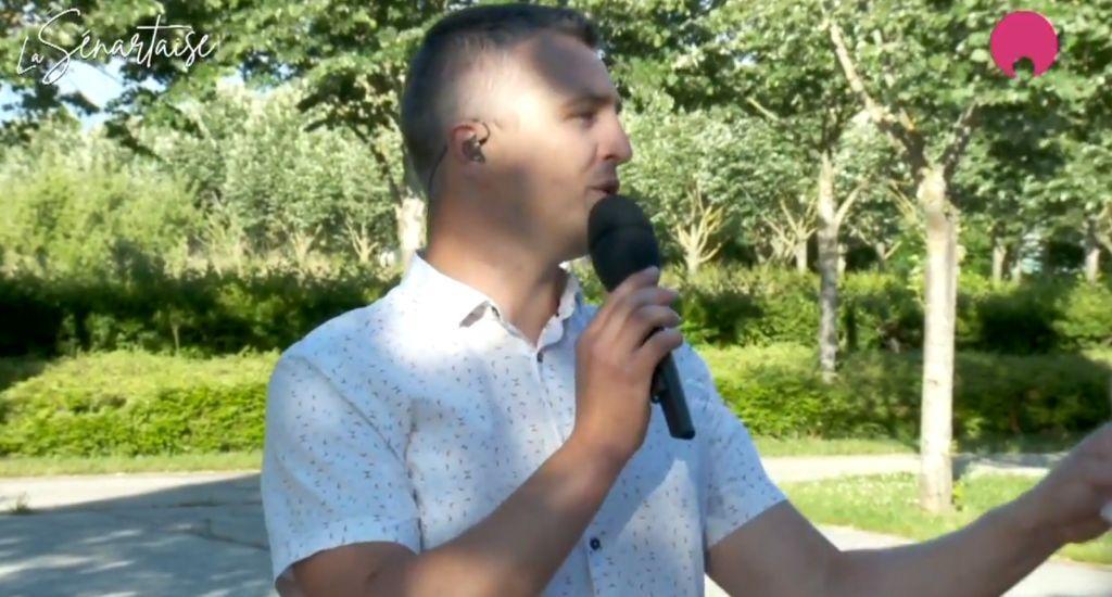 Yoan, présentateur TV pour la course pédestre La Sénartaise